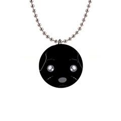 Affenpinscher Cartoon 2 Sided Head Button Necklace