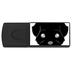 Affenpinscher Cartoon 2 Sided Head 4GB USB Flash Drive (Rectangle)