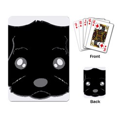 Affenpinscher Cartoon 2 Sided Head Playing Cards Single Design