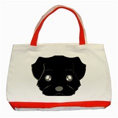 Affenpinscher Cartoon 2 Sided Head Classic Tote Bag (Red)