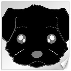 Affenpinscher Cartoon 2 Sided Head Canvas 12  x 12  (Unframed)