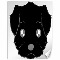 Affenpinscher Cartoon 2 Sided Head Canvas 12  x 16  (Unframed)