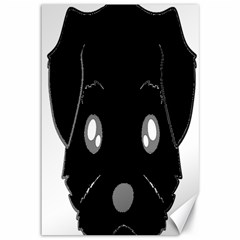 Affenpinscher Cartoon 2 Sided Head Canvas 12  x 18  (Unframed)