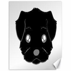 Affenpinscher Cartoon 2 Sided Head Canvas 18  x 24  (Unframed)