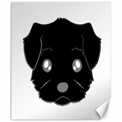 Affenpinscher Cartoon 2 Sided Head Canvas 20  x 24  (Unframed)