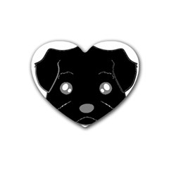 Affenpinscher Cartoon 2 Sided Head Drink Coasters (Heart)