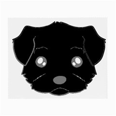 Affenpinscher Cartoon 2 Sided Head Glasses Cloth (Small, Two Sided)