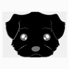 Affenpinscher Cartoon 2 Sided Head Glasses Cloth (Large, Two Sided)