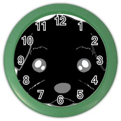 Affenpinscher Cartoon 2 Sided Head Wall Clock (Color)