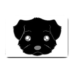 Affenpinscher Cartoon 2 Sided Head Small Door Mat