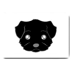 Affenpinscher Cartoon 2 Sided Head Large Door Mat