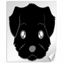 Affenpinscher Cartoon 2 Sided Head Canvas 11  x 14  (Unframed)