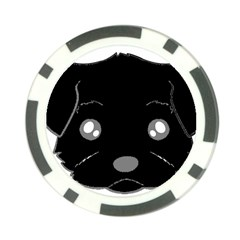 Affenpinscher Cartoon 2 Sided Head Poker Chip
