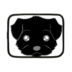 Affenpinscher Cartoon 2 Sided Head Netbook Sleeve (Small)