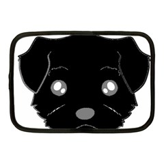 Affenpinscher Cartoon 2 Sided Head Netbook Sleeve (Medium)