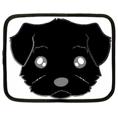 Affenpinscher Cartoon 2 Sided Head Netbook Sleeve (Large)