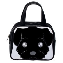 Affenpinscher Cartoon 2 Sided Head Classic Handbag (One Side)