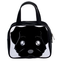 Affenpinscher Cartoon 2 Sided Head Classic Handbag (Two Sides)