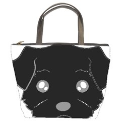Affenpinscher Cartoon 2 Sided Head Bucket Handbag