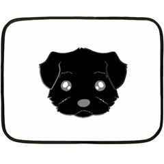 Affenpinscher Cartoon 2 Sided Head Mini Fleece Blanket (Two Sided)