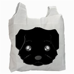 Affenpinscher Cartoon 2 Sided Head White Reusable Bag (One Side)