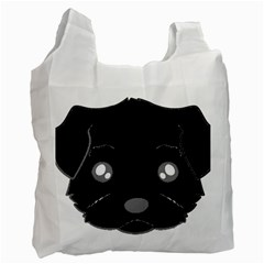 Affenpinscher Cartoon 2 Sided Head White Reusable Bag (Two Sides)