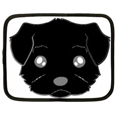 Affenpinscher Cartoon 2 Sided Head Netbook Sleeve (XL)