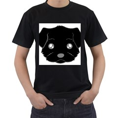 Affenpinscher Cartoon 2 Sided Head Men s T-shirt (Black)
