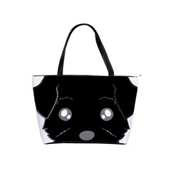 Affenpinscher Cartoon 2 Sided Head Large Shoulder Bag
