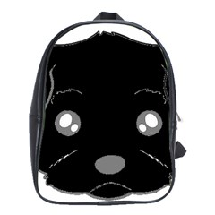 Affenpinscher Cartoon 2 Sided Head School Bag (Large)