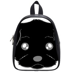 Affenpinscher Cartoon 2 Sided Head School Bag (Small)