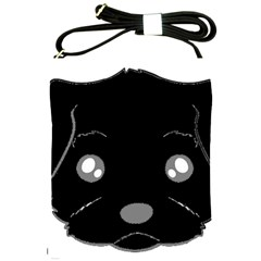 Affenpinscher Cartoon 2 Sided Head Shoulder Sling Bag