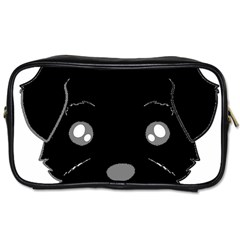 Affenpinscher Cartoon 2 Sided Head Travel Toiletry Bag (One Side)