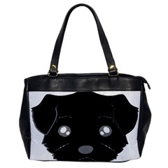 Affenpinscher Cartoon 2 Sided Head Oversize Office Handbag (One Side)