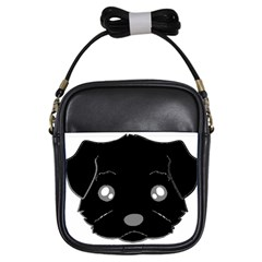 Affenpinscher Cartoon 2 Sided Head Girl s Sling Bag