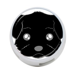 Affenpinscher Cartoon 2 Sided Head 4-Port USB Hub (One Side)
