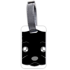 Affenpinscher Cartoon 2 Sided Head Luggage Tag (One Side)