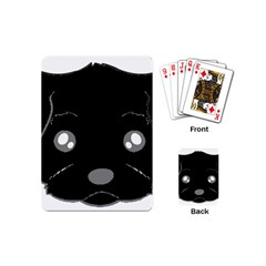 Affenpinscher Cartoon 2 Sided Head Playing Cards (Mini)
