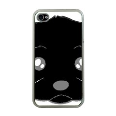 Affenpinscher Cartoon 2 Sided Head Apple iPhone 4 Case (Clear)