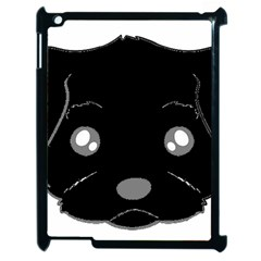 Affenpinscher Cartoon 2 Sided Head Apple iPad 2 Case (Black)