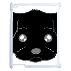 Affenpinscher Cartoon 2 Sided Head Apple iPad 2 Case (White)