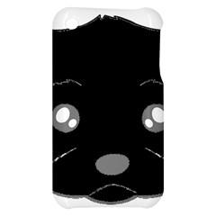 Affenpinscher Cartoon 2 Sided Head Apple iPhone 3G/3GS Hardshell Case