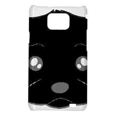 Affenpinscher Cartoon 2 Sided Head Samsung Galaxy S2 i9100 Hardshell Case
