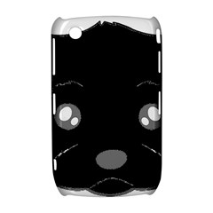 Affenpinscher Cartoon 2 Sided Head BlackBerry Curve 8520 9300 Hardshell Case