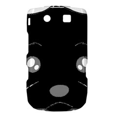 Affenpinscher Cartoon 2 Sided Head BlackBerry Torch 9800 9810 Hardshell Case