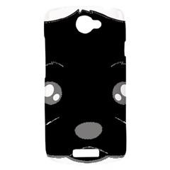 Affenpinscher Cartoon 2 Sided Head HTC One S Hardshell Case