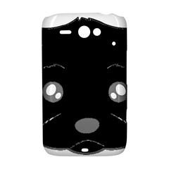 Affenpinscher Cartoon 2 Sided Head HTC ChaCha / HTC Status Hardshell Case