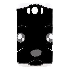 Affenpinscher Cartoon 2 Sided Head HTC Sensation XL Hardshell Case