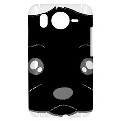 Affenpinscher Cartoon 2 Sided Head HTC Desire HD Hardshell Case