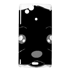 Affenpinscher Cartoon 2 Sided Head Sony Xperia Arc Hardshell Case